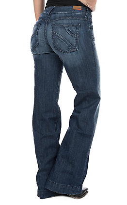 Ariat Women's Half Moon Chill Blue Cavender's Exclusive Trouser Jeans