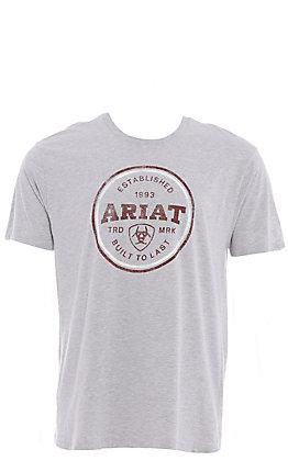 Ariat Men's Athletic Grey Logo Short Sleeve T-Shirt