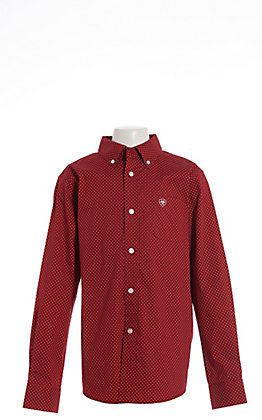 Ariat Cavender's Exclusive Boys' Garnet Zeppelin Print Long Sleeve Western Shirt