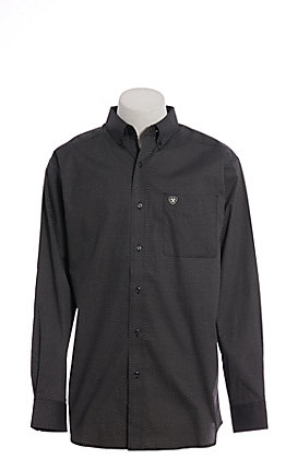 Ariat Cavender's Exclusive Men's Stretch Black Shafter Long Sleeve Western Shirt