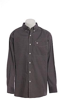 Ariat Cavender's Exclusive Men's Stretch True Crimson Stoney Long Sleeve Western Shirt