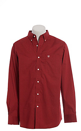 Ariat Cavender's Exclusive Men's Stretch Garnet Zeplin Print Long Sleeve Western Shirt