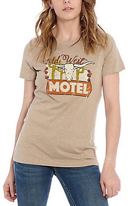 Ariat Women's  Beige Old West Mote Graphic Short Sleeve T-Shirt - Cavender's Exclusive