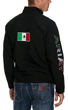 Ariat Men's Black with Mexico Flag Logo Team Softshell