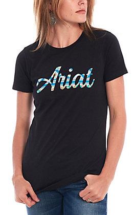 Ariat Women's Black Navajo Logo Short Sleeve T-Shirt