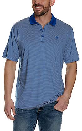 Ariat Men's Micro Stripe TEK Blue Heat Series Polo Shirt