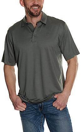 Ariat Men's Birdseye Shadow Grey Dot Print Heat Series Polo Shirt