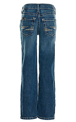 Ariat Boy's B5 Heron Rattler Medium Wash Slim Fit Straight Leg Stretch Jeans (7-16)