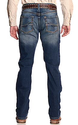 Ariat Men's M4 Outbound Cinder Medium Wash Relaxed Fit Straight Leg Stretch Jeans