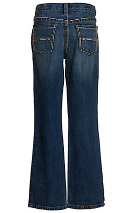 Ariat Boys' B4 Casey Tourismo Medium Wash Relaxed Fit Boot Cut Stretch Jeans (7-16)
