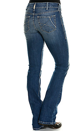 Ariat Women's REAL Ella Reverie Medium Wash Arrow Fit Boot Cut Jeans