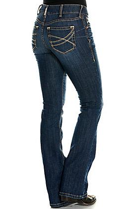Ariat Women's REAL Linda Goldie Medium Wash Perfect Rise Boot Cut Jeans