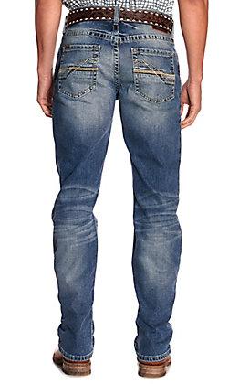 Ariat Men's M4 Shoreway Dakota Medium Wash Relaxed Fit Straight Leg Jeans