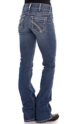 Ariat Women's REAL Hannah Medium Wash Boot Cut Jeans