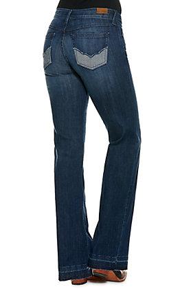 Ariat Women's Sparrow Medium Wash Released Hem Boot Cut Jean