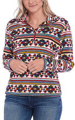 Ariat Women's Multi Color Aztec Print Pull Over Jacket