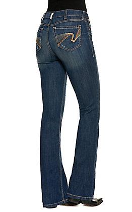 Ariat Women's R.E.A.L Marnie Dark Wash High Rise Boot Cut Jeans