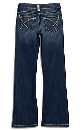 Ariat Girl's R.E.A.L Stella Chill Blue Boot Cut Jeans