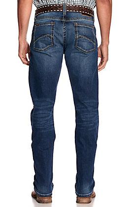 Ariat Men's M1 Portland Summit Medium Wash Slim Fit Straight Leg Stretch Jeans