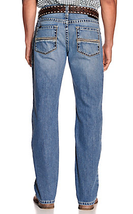 Ariat Men's M4 Grayson Baylor Light Wash Relaxed Fit Bootcut Leg Jeans