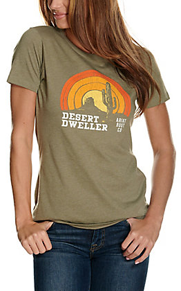 Ariat Women's Heather Olive Desert Dweller Graphic Short Sleeve T-Shirt