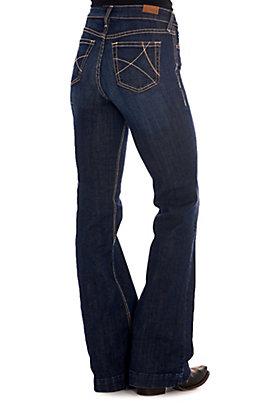 Ariat Women's Ella Dark Wash High Rise Slim Trouser Jeans