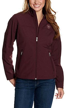 Ariat Women's Team Wine Tasting and Pink Logo Softshell Jacket