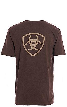 Ariat Men's Brown Logo Short Sleeve T-Shirt
