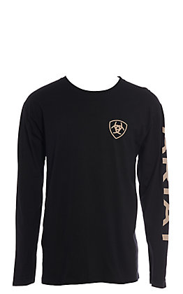 Ariat Men's Black Branded Long Sleeve Graphic T-Shirt
