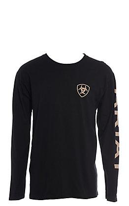 Ariat Men's Black Branded Long Sleeve Graphic T-Shirt
