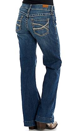Ariat Women's Natalie Medium Wash Trouser Jeans - Cavender's Exclusive