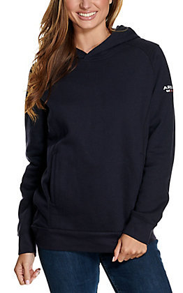 Ariat Women's Rev Navy Pullover FR Hoodie