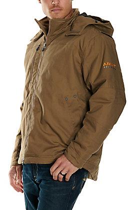 Ariat Men's Rebar MaxMove Cordura Field Khaki DuraStretch Insulated Hooded Jacket