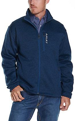 Ariat Men's Caldwell Indigo Heather Full Zip Sweater Jacket