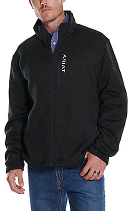 Ariat Men's Caldwell Charcoal Full Zip Sweater Jacket