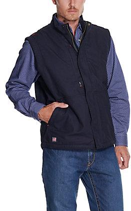 Ariat Men's Workhorse Navy Insulated CAT 4 FR Vest
