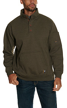 Ariat Men's Rebar Overtime Wren Heather Fleece Pullover Jacket
