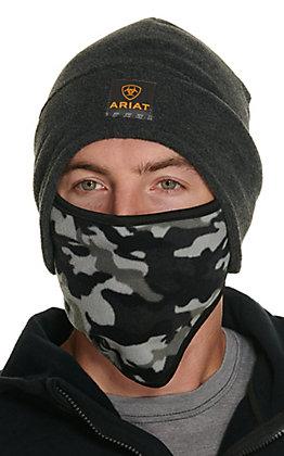 Ariat Men's Rebar 2 in 1 Charcoal Grey and Black Camo Cap