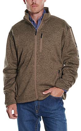 Ariat Men's Caldwell Fossil Tan Full Zip Sweater Jacket