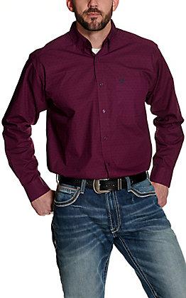 Ariat Men's Isherwood Violet and Black Geo Triangle Print Long Sleeve Western Shirt
