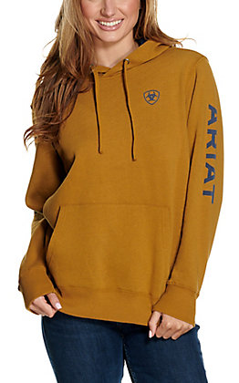 Ariat Women's REAL Bronze Brown Arm Logo Hoodie