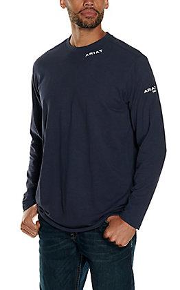 Ariat Men's Base Layer Navy FR Long Sleeve T-Shirt