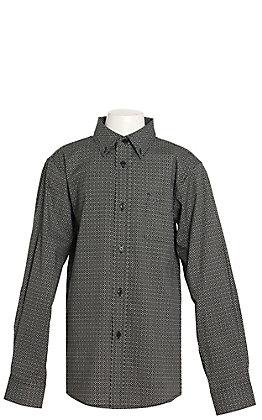 Ariat Boys Gatewood Black Geo Print Western Shirt