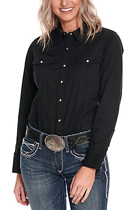 Ariat Women's Black Retro Long Sleeve Western Shirt - Cavender's Exclusive