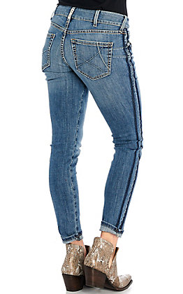 Ariat REAL Women's Ella Holly Exposed Outseam Skinny Leg Jeans - Cavender's Exclusives