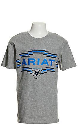 Ariat Boys' Grey Southwest Logo Short Sleeve T-Shirt