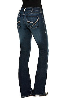 Ariat Women's R.E.A.L Cleo Dark Wash Mid Rise Boot Cut Jeans