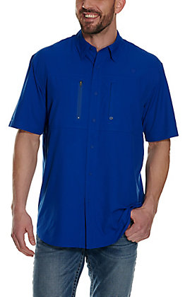 Ariat Men's VentTEK Sapphire Blue Short Sleeve Shirt