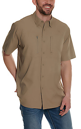 Ariat Men's VentTEK Brindle Tan Short Sleeve Shirt