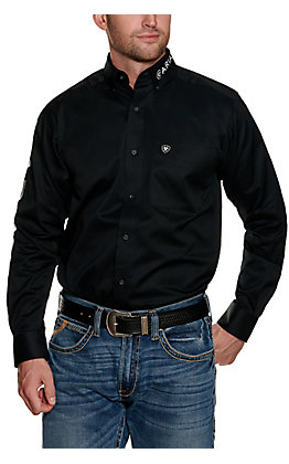 Ariat Men's Black Logo Fitted Long Sleeve Western Shirt